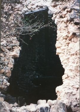 Photograph of an opening in the wall of Union Mill, Antigua
