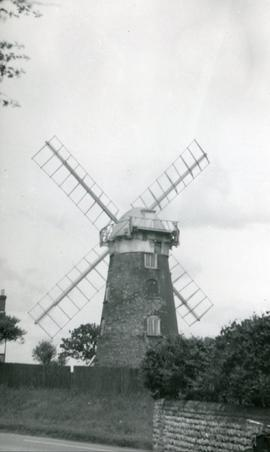 View from road, Stow Mill, Paston