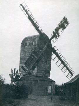 Post mill, Aythorpe Roding, in decline