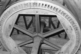 Brake wheel, cogs removed, Upper Mill, Eastry