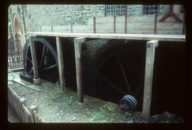 Part of building with twin waterwheels, Castle Mill, Dunster