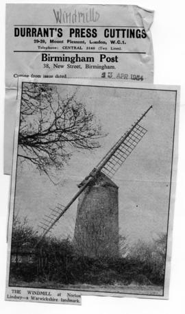 """The windmill at Norton Lindsey"""