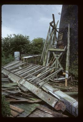 Wreckage at base, tower mill, Stickford