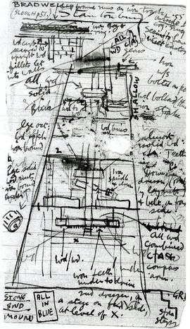 Copy of notebook page, mill layout