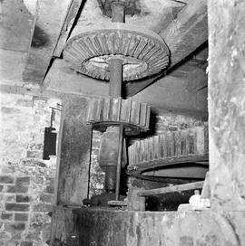 Detail of spur wheel, stone nut and crown wheel, Brimley Mill, Stoke Abbott
