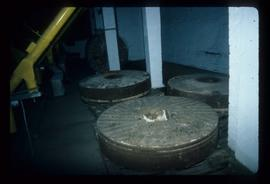 French burr millstones, dismantled, Prewett's Mill, Horsham