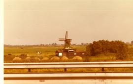 Unidentified Dutch smock mill, resembling De Huisman at the Zaanse Schans, location unknown