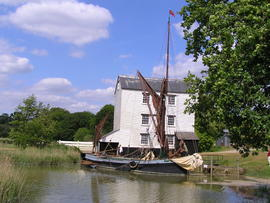 Small barge at Thorrington Tide Mill