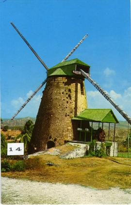 Postcard of Morgan Lewis Mill, Barbados