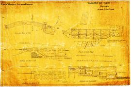 """Tadcaster weir fish pass, plans and section"""