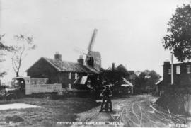 View from road, post mill, Pettaugh