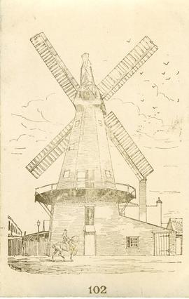 Drawing of mill, Delce Mill, Rochester