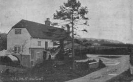 View of mill and waterwheel, Westwell Mill, Westwell