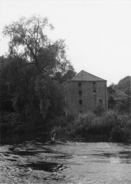Mill building from across river