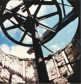 Photograph of gearing inside Union Mill, Antigua