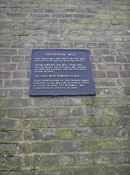 Plaque on the windmill