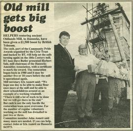 """Old mill gets big boost"""
