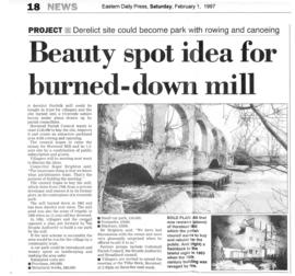 """Beauty spot idea for burned-down mill"""