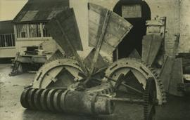 Machinery removed during demolition, smock mill, Sutton Valence