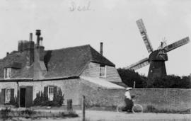 View over a wall with house, Upper Deal Mill, Deal