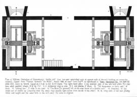 """Plan of William Hazledine of Shrewsbury's 'double mill'"""