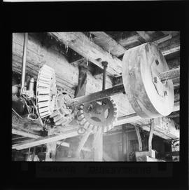 Interior showing unidentified gearing, watermill, Shermanbury