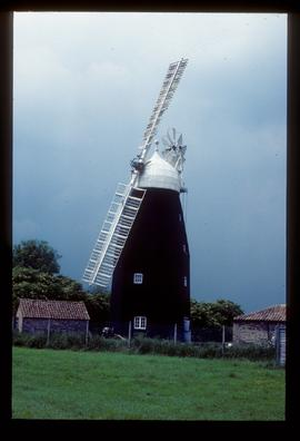Downfield Mill, Soham, with two sails, in working order