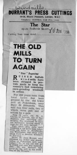 """The old mill turns again"""