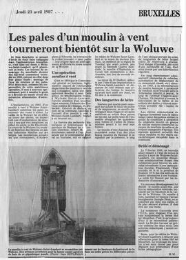 """A windmill's sails will soon be turning at Woluwe"""