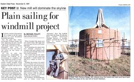 """Plain sailing for windmill project"""