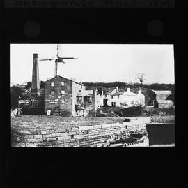 Watermill, Bromborough, showing water mill and tower mill