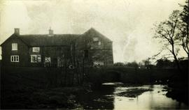 Downstream view showing tailrace arch, watermill, Thornton le Street