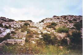 Remains of the 2nd century AD mill complex at Barbegal near Arles, France
