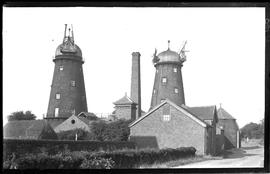 View of two tower mills