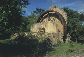 Postcard of an old sugar mill, Grenada