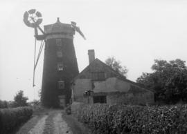 View from driveway, tower mill, Debenham