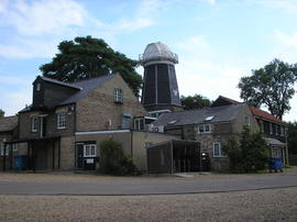 View of the mill buildings