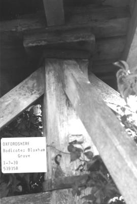 Detail of a trestle in the post mill in Bloxham Grove, near Bodicote, Oxfordshire