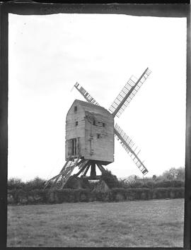 Post mill, Ashurst, derelict, with four sails.