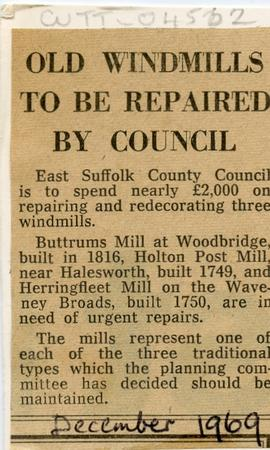 """Old windmills to be repaired by council"""