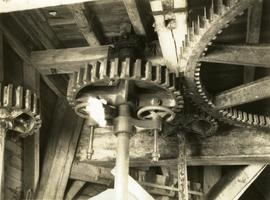 Engine drive to great spur wheel, smock mill, West Kingsdown