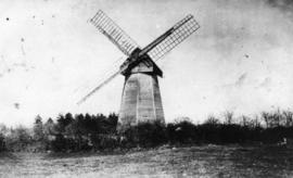 Early view, smock mill, Bolney
