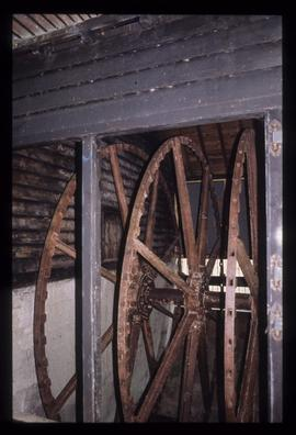 Internal waterwheel with floats missing, Chart Gunpowder Mills, Faversham