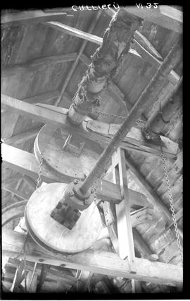 Sack hoist pulleys, post mill, Catfield