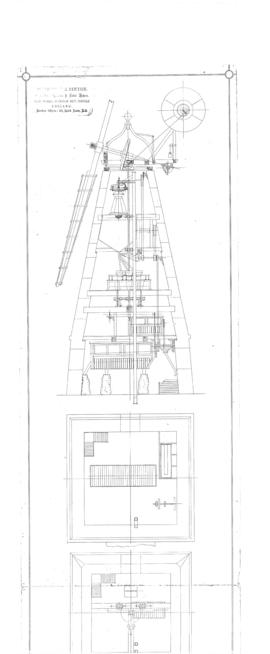 Section and floor plan