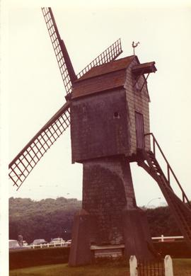 Preserved composite(?) mill at Wenduine, Belgium, summer 1972