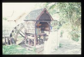 Miniature watermill with stones on hurst frame