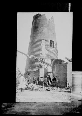 Burnt-out tower, Walter's Mill, Mark Cross