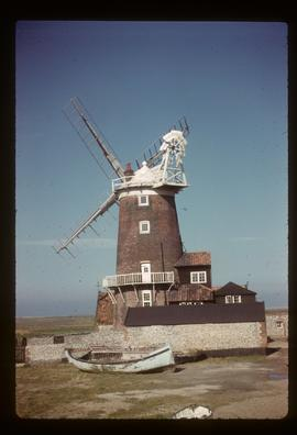 House conversion with sails, tower mill, Cley next the Sea