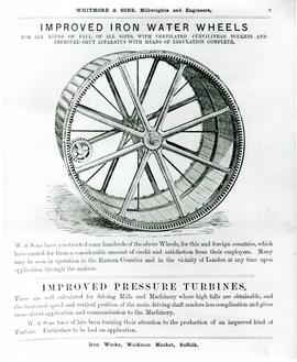 Iron Water Wheels and Pressure Turbines